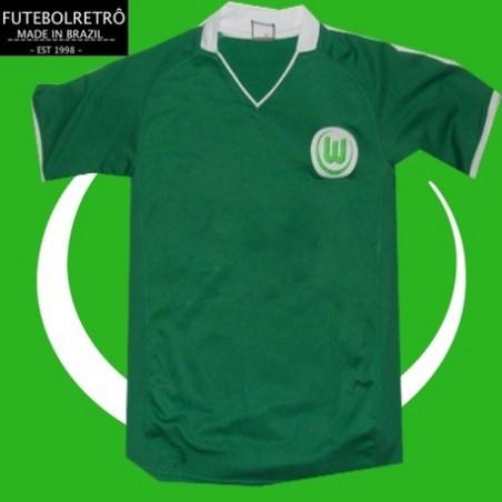 Camisa retrô  Werder breme gola polo  1980 - ALE