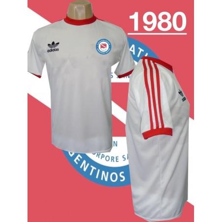 Camisa retrô Argentinos juniors  logo branca -1980