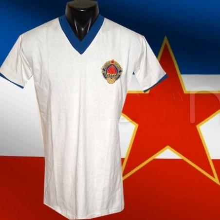 Camisa retrô  Yougoslavia branca -1970