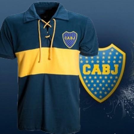 Camisa retrô Boca Juniors ( cordinha) gola pol