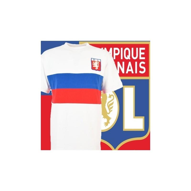 Camisa retrô Olympique de Lyon tradicional.