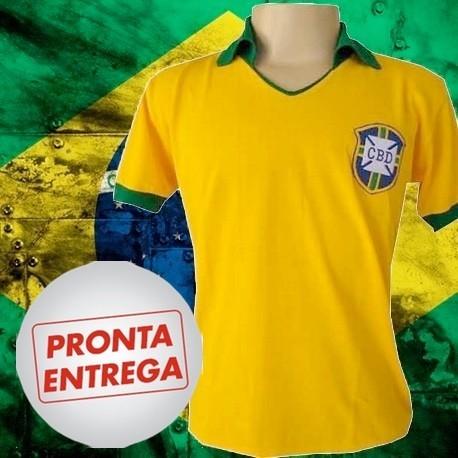 d2d3df738 Camisa retrô Seleção brasileira azul torcedor