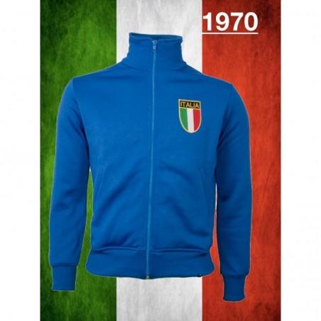 Jaqueta retrô Itália azul-1970